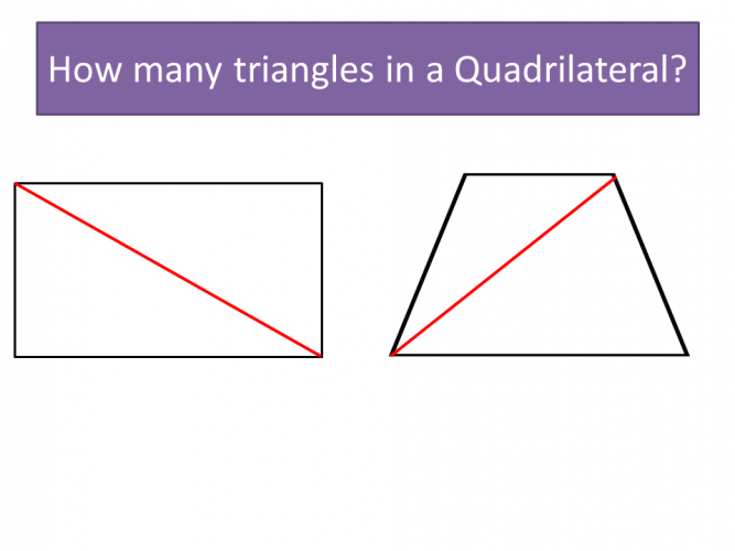 Diagram showing angles in polygons