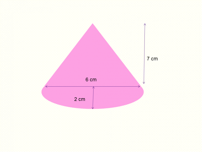 Area of compound shape triangle and semi circle