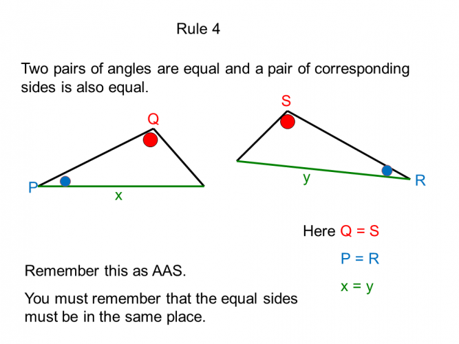 Rule 4 of congruence (AAS)