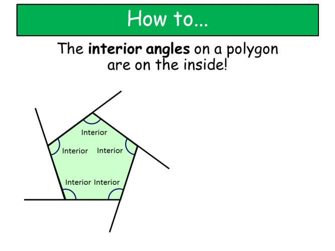Diagram of interior angles