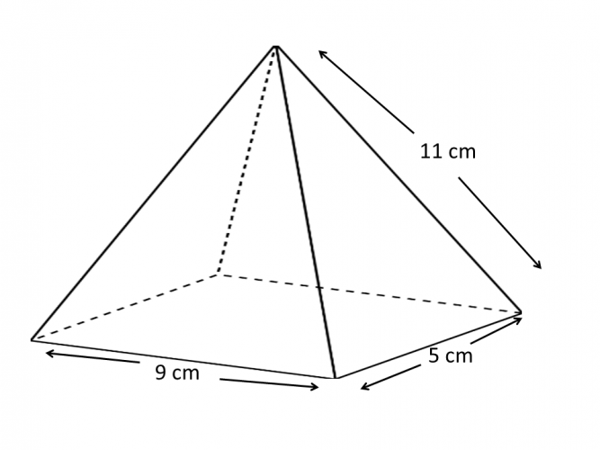 Pyramid no vertical height