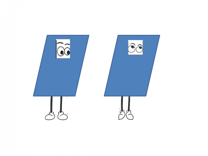 rectangles with eyes