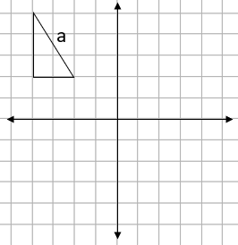 Four quadrant grid with a triangle showing