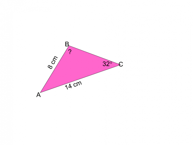 sin rule find an angle