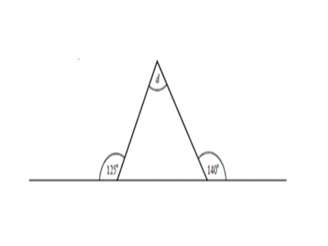 Image of a triangle with a missing angle