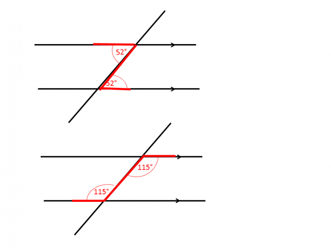 Diagrams of alternate angles