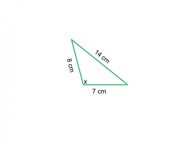 cosine rule find an angle