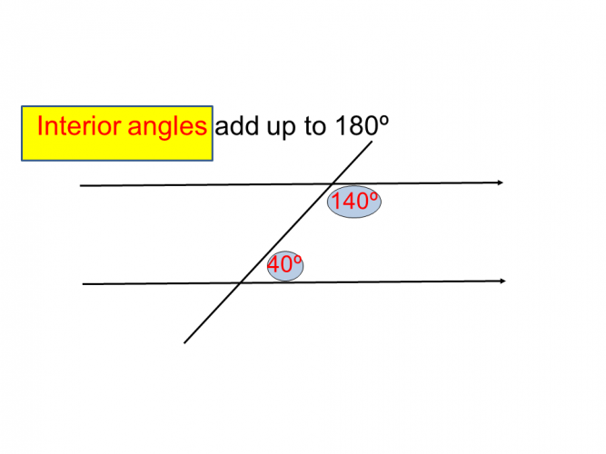 interior angles example