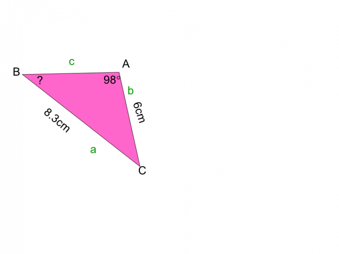 sin rule for missing angle