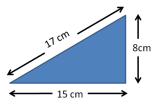 Area of triangle diagram