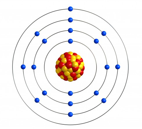 The structure of a potassium atom