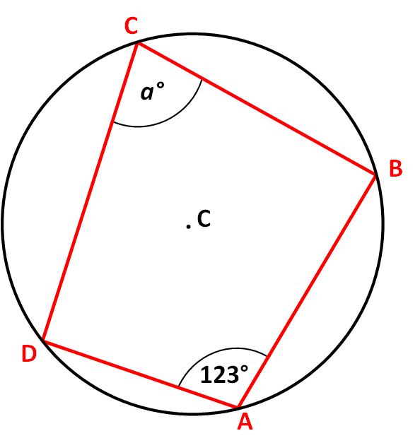 Angles in Cyclic Quadrilaterals Worksheet - EdPlace