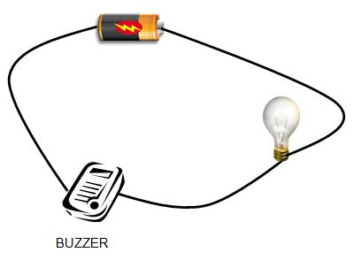 1 cell/1 lamp/1 buzzer in series