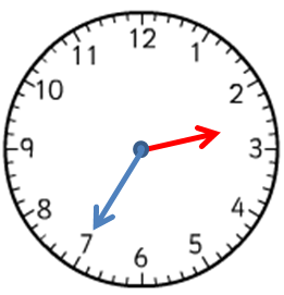 Clock showing 2:35