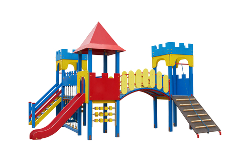 a brightly coloured playground