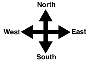 Comp Map Directions North South East West on eastern north america map, prime meridian east map, south east river map, north south land map, north south compass, new middle east map, north america gray map,