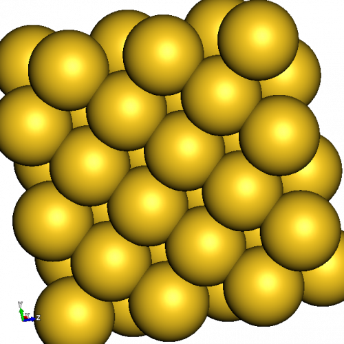 Atomic structure of gold