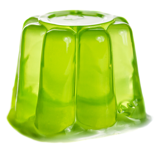 A green jelly