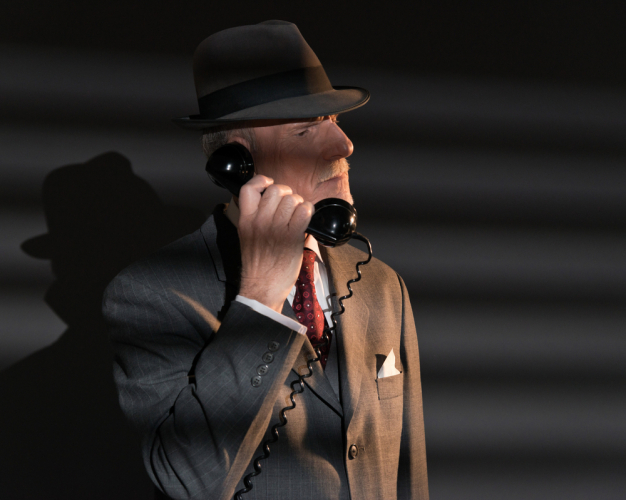 Detective on a phone