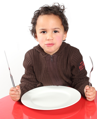 boy with empty plate