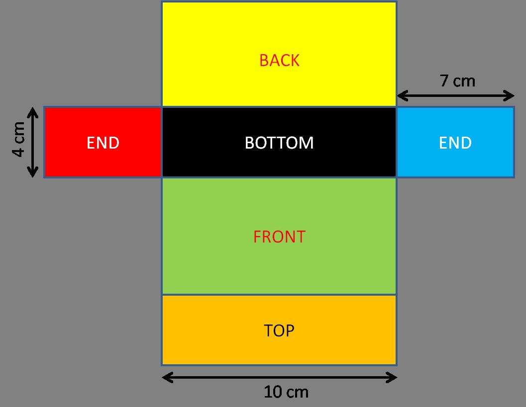 Cuboid net 4-7-10