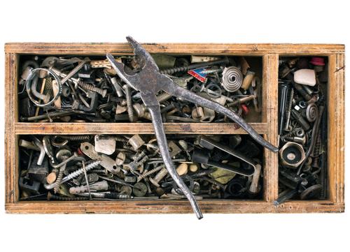 Box of metal bits
