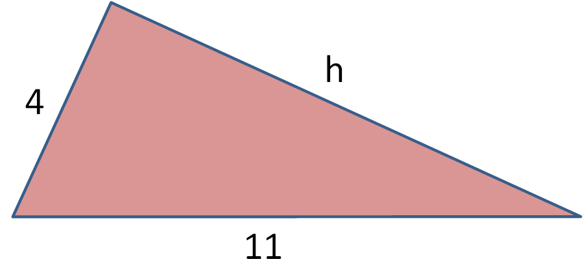 triangle with a side length missing
