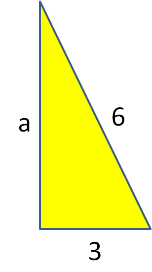 triangle with shorter side length missing