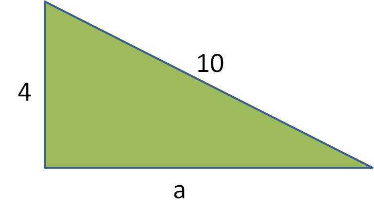 triangle with missing side length