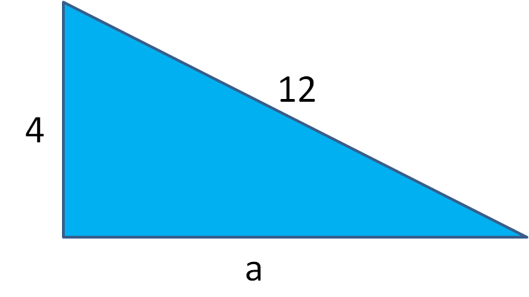 triangle with short side length missing