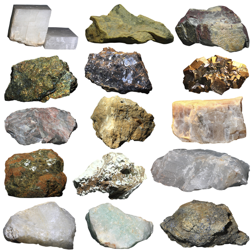 Selection of rocks