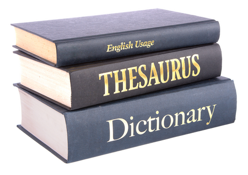 A dictionary and a thesaurus