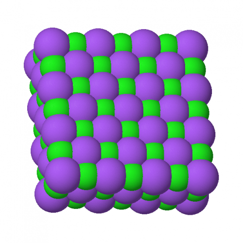 Atomic structure of sodium chloride