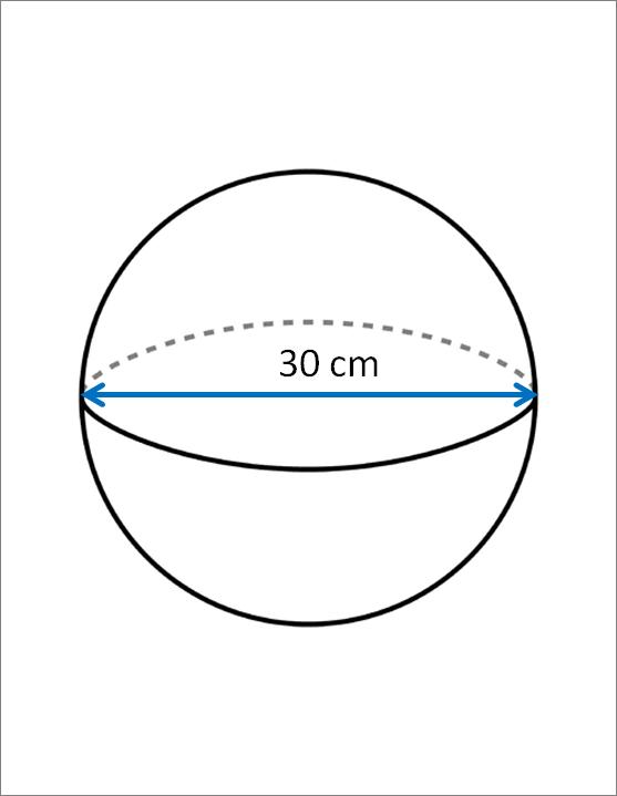 Volumes of Spheres Worksheet - EdPlace