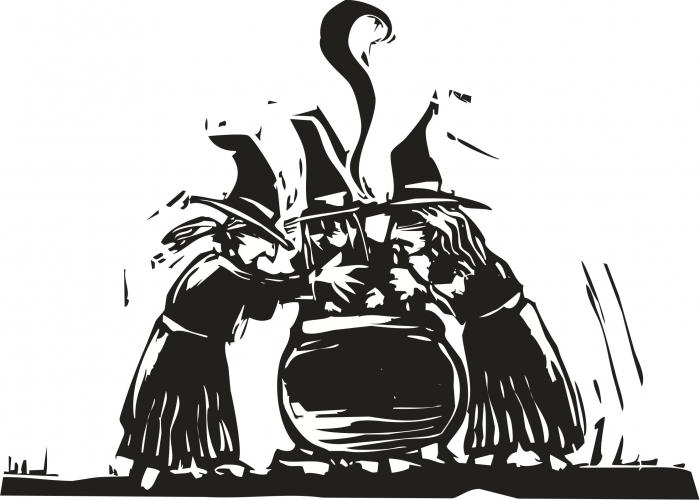 Witches with cauldron