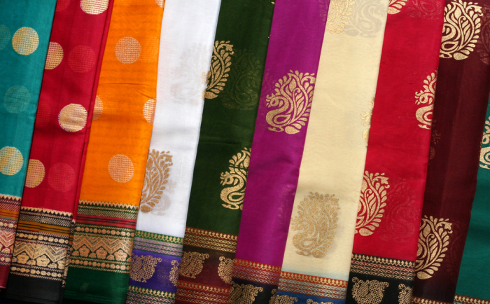 Traditional Indian fabric