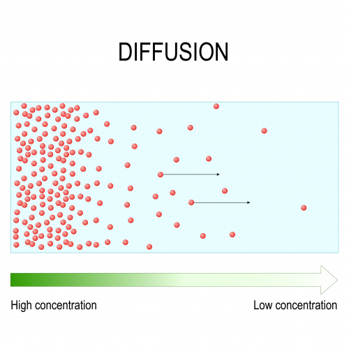 Image of particles diffusing