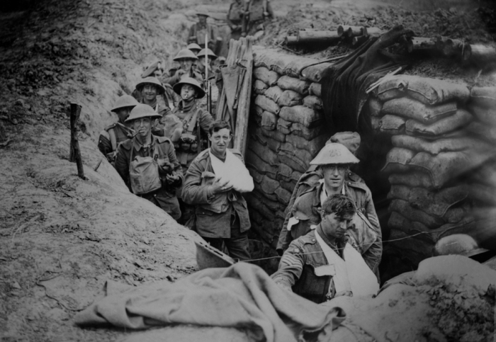 Soldiers in a trench