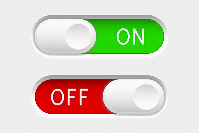 on and off button