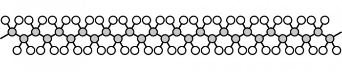 A polyethene chain