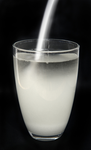 water with sugar
