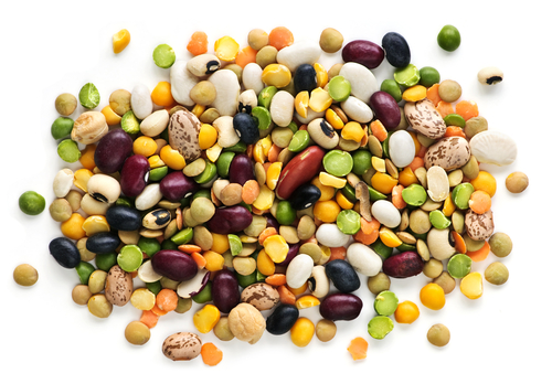 Mixture of peas and beans