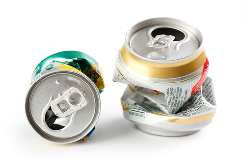 Squashed cans