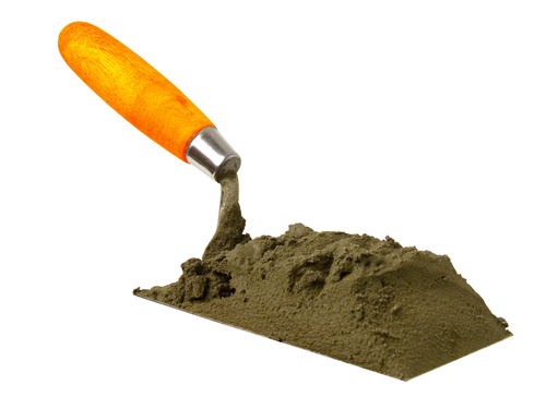 Trowel of cement