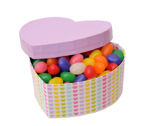 Heart-shaped box of sweets