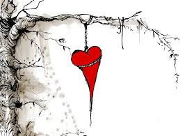illustrated heart on a tree