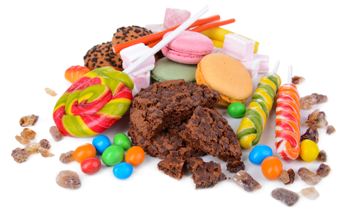 A selection of different sweets and cookies