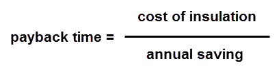 calculation of payback time