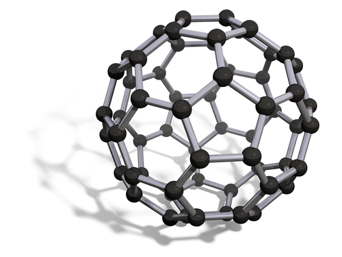 Molecular structure of fullerenes.