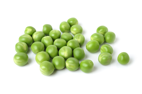 Group of green peas